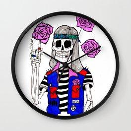 rockin' skull Wall Clock