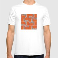 Wall Pattern MEDIUM Mens Fitted Tee White