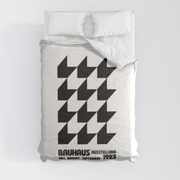 Black and white Bauhaus old remastered high resolution poster Comforters