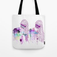 girls Tote Bags featuring ▲GIRLS▲ by Kris Tate