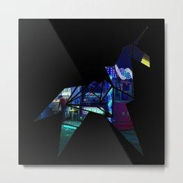 Horse Origami Metal Print