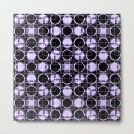 Dark and light Geometric Lavender Cirles Metal Print