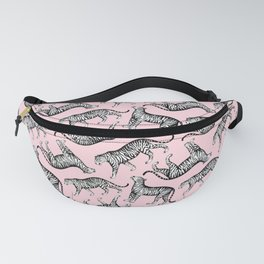 Tigers (Pink and White) Fanny Pack