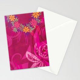 Hawaiian Lei Please Pink Tribal Stationery Cards