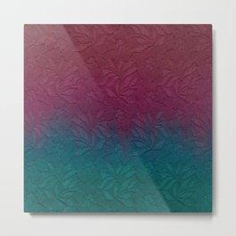 Gable green navy blue burgundy lace gradient Metal Print