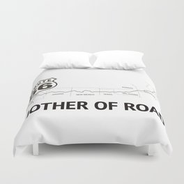 Mother Of Road - Route 66 (white) Duvet Cover
