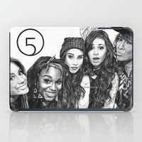 fifth harmony iPad Cases featuring Fifth Harmony Group Drawing by Emilia Apreda