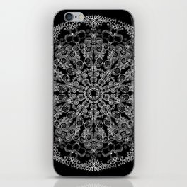 Mandala Project 213 | White Lace on Black iPhone Skin