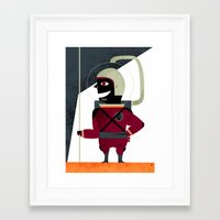 spaceman Framed Art Prints featuring SPACEMAN by Eleonora