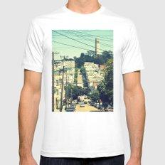 San Francisco Mens Fitted Tee White MEDIUM