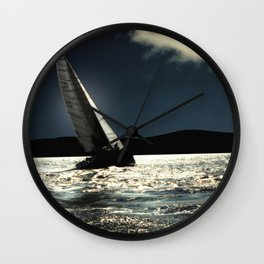 sailing boat , against to wind Wall Clock