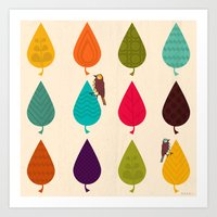 leaves Art Prints featuring Leaves by Kakel