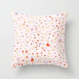 W/LDFLOWERS Throw Pillow