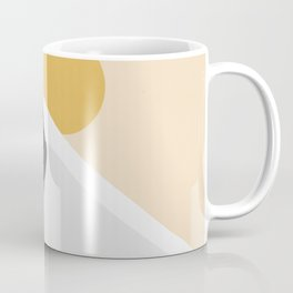 Abstract Dune - Golden Desert Coffee Mug