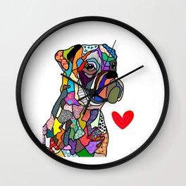 Boxer Love Wall Clock