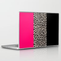 the national Laptop & iPad Skins featuring Leopard National Flag IV by M Studio