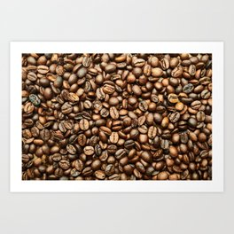 Roasted Coffee Beans Art Print