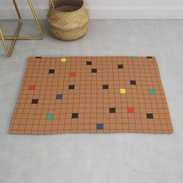 Crossword Puzzle Tan #GraphicDesign Rug