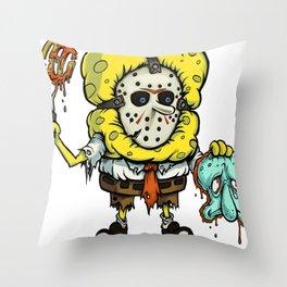 Spongebob Horror Throw Pillow