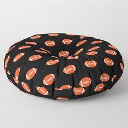 Florida fan university gators orange and blue college sports footballs pattern Floor Pillow