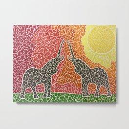 Elephant Greetings Metal Print
