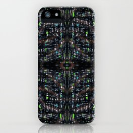 Green Lights At Night iPhone Case