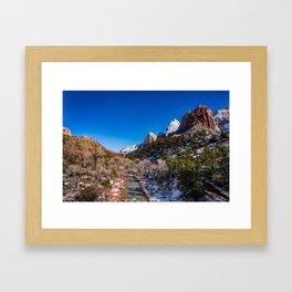 Virgin_River 4767 - Canyon Junction, Zion Utah Framed Art Print