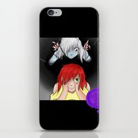inner demons iPhone & iPod Skins featuring Inner Demons by Victoria 'Narithians' Vasquez