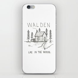 WALDEN Life in the woods iPhone Skin