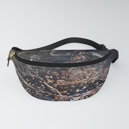 Abstract Forest Floor with Snake on Metal Fanny Pack