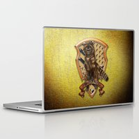 hufflepuff Laptop & iPad Skins featuring Hufflepuff harry potter by JanaProject