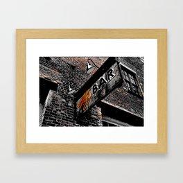The Alley Bar Framed Art Print