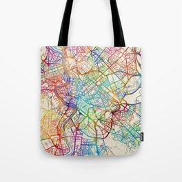 Rome Italy Street Map Tote Bag