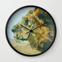 lion Wall Clocks featuring Lion by Esco