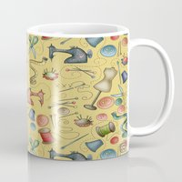 sewing Mugs featuring Sewing tools by Catru