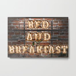 Bed and Breakfast -  Wall-Art for Hotel-Rooms Metal Print