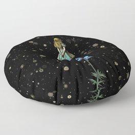 Wonderland Sky Viewing Time - Alice In Wonderland Floor Pillow