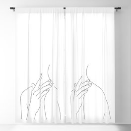 Female body line drawing - Danna Blackout Curtain