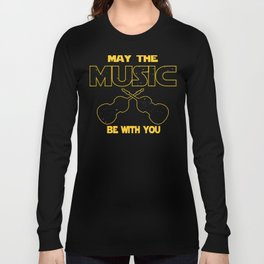 Contrabass May The Music Be With You Long Sleeve T-shirt
