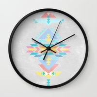 navajo Wall Clocks featuring Navajo by Marta Olga Klara