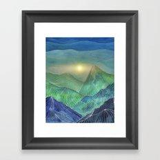 Lines in the mountains V Framed Art Print
