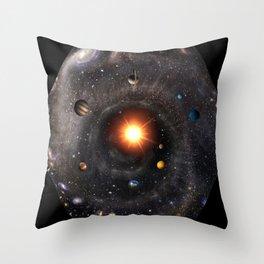 Hexagonal cosmic view Throw Pillow