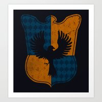ravenclaw Art Prints featuring Ravenclaw House by The Things We Love