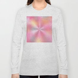 Pink Starburst Pattern Long Sleeve T-shirt