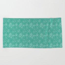 Floral Freeze Mint Beach Towel