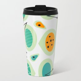 Mid-century abstraction Metal Travel Mug
