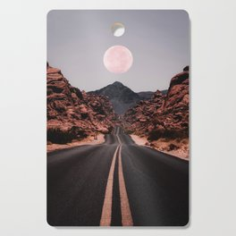 Road Red Moon Cutting Board