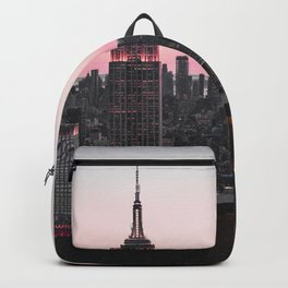 Helicopter Above New York City Skyline Backpack