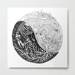 YinYang Animal & Plant Metal Print