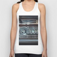mercedes Tank Tops featuring Vintage Radio Becker Europa by Premium